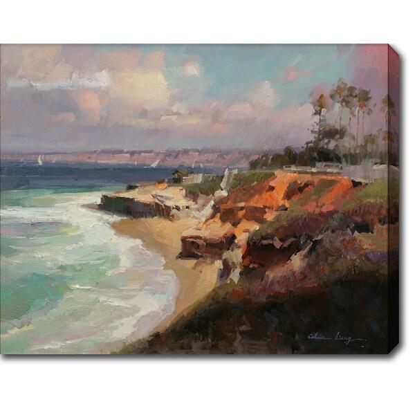 Golden Coast' Oil on Canvas Art