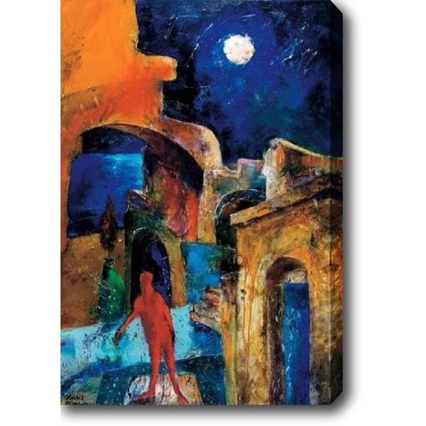 Night in the Town' Oil on Canvas Art 13741088