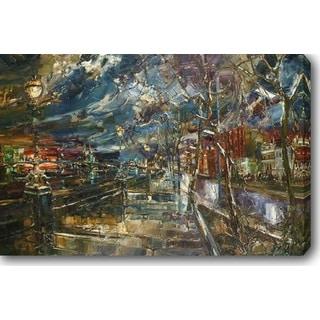 City Street' Oil on Canvas Art