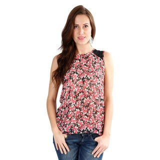 El Chic Fashion Women's 'Flair For Flower' Sleeveless Top