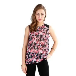 El Chic Fashion Women's 'Floral Lace 'em In' Top