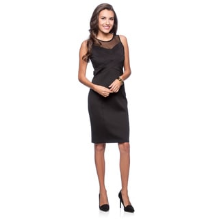 Jessica Simpson Women's Black Paneled Bodice Dress
