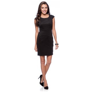 Jessica Simpson Women's Black Sunray Cap-sleeve Dress