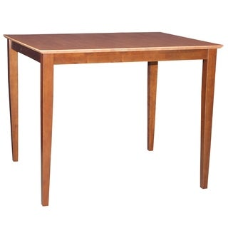 Cinnamon/ Espresso Solid Wood Counter Height Dining Table with Shaker Legs