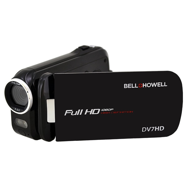 Bell + Howell Slice DV7HD 16 MP High-definition Black Camcorder with Touchscreen