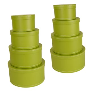 Nesting Apple Green Paperboard Stacker Boxes (Set of 4)