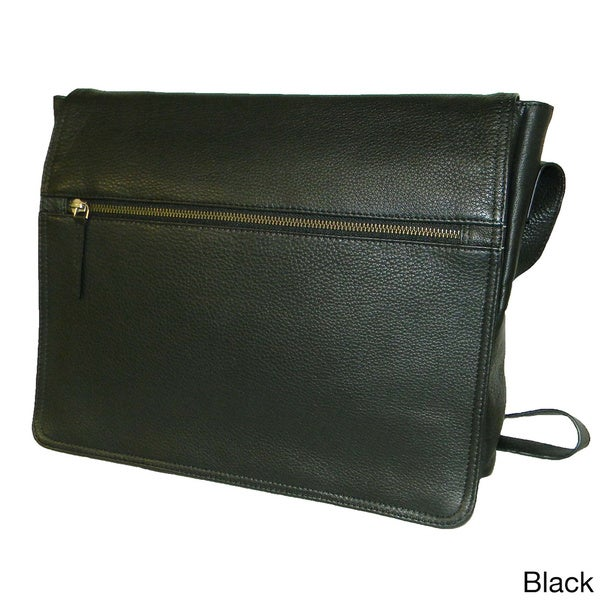 Paul and Taylor Leather Fold-over Messenger Bag