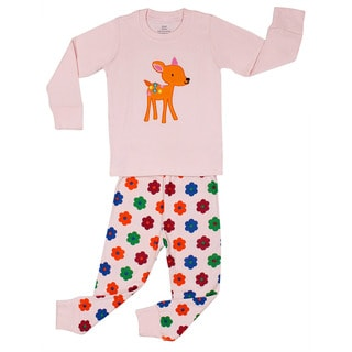 Elowel Girls Bambi 2-piece Pajama Set