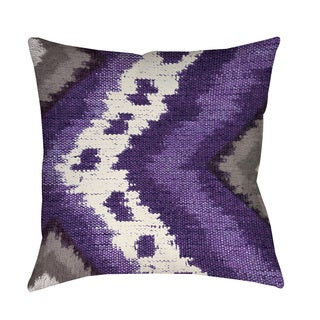 Thumbprintz Tribal Ikat Plum Indoor/ Outdoor Throw Pillow