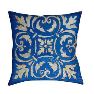 Thumbprintz Blue Mosaic Indoor/ Outdoor Throw Pillow