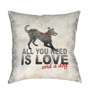 Thumbprintz All You Need Indoor/ Outdoor Throw Pillow
