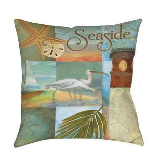 Thumbprintz Beach Memories A Indoor/ Outdoor Throw Pillow