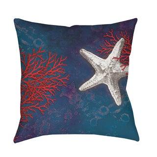 Thumbprintz Seastar Bay Starfish Indoor/ Outdoor Throw Pillow