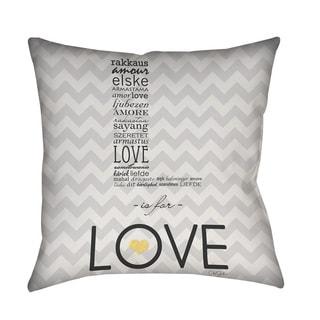 Thumbprintz L is for Love Indoor/ Outdoor Throw Pillow
