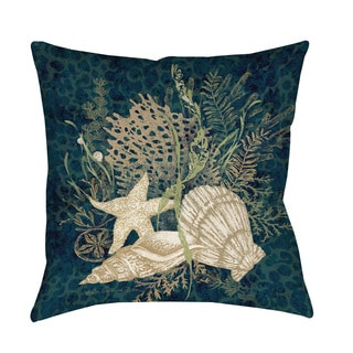 Thumbprintz Sea Shells Vignette Indoor/ Outdoor Throw Pillow