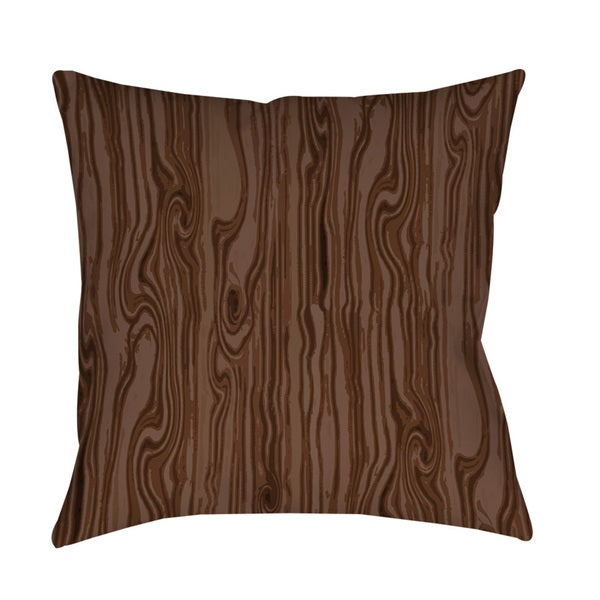 Large Decorative Outdoor Pillows : Thumbprintz Wood Grain Large Scale Brown Indoor/ Outdoor Throw Pillow
