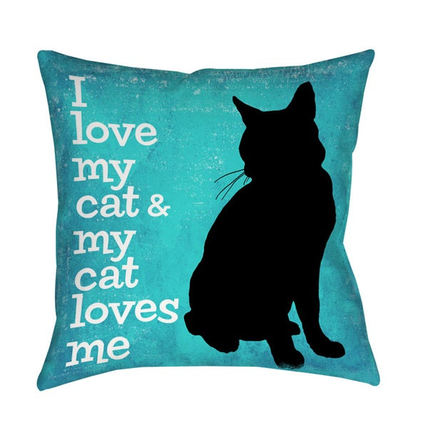 Thumbprintz I Love My Cat Indoor/ Outdoor Throw Pillow 13741865