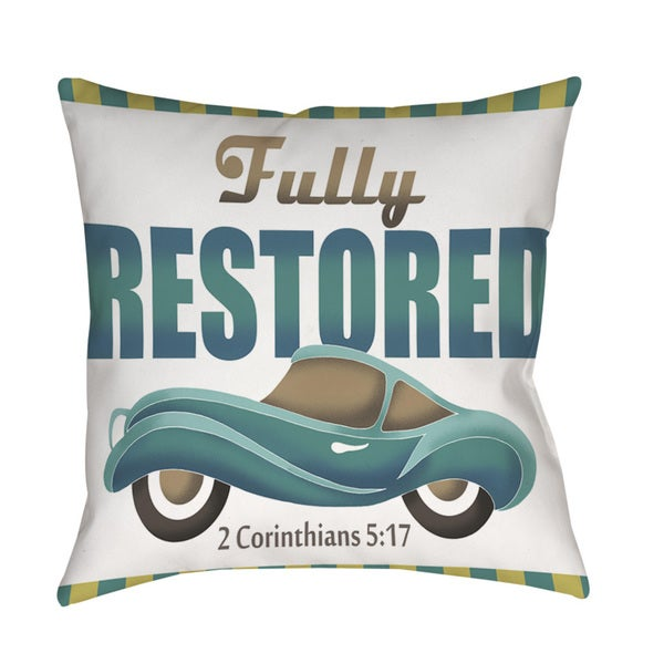 Thumbprintz Fully Restored Indoor/ Outdoor Throw Pillow 13741898