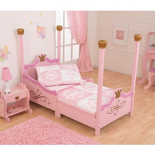 Classic Pink/ White Princess 4-piece Toddler Bedding