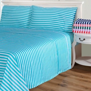 Simple Elegance Cabana Kids Striped Cotton Blend 600 Thread Count Sheet Set