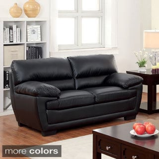 Furniture of America Darrell Faux Leather Modern Loveseat