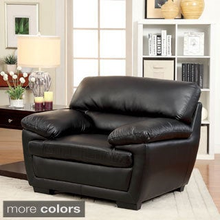 Furniture of America Darrell Faux Leather Chair