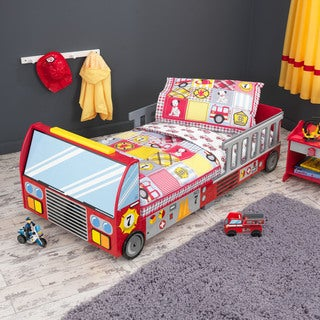 Fire Truck Multicolored Toddler Bedding