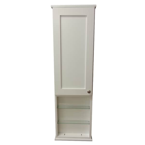 42 Inch Alexander Series On The Wall Cabinet With 12 Inch Open Shelf Deep Inside