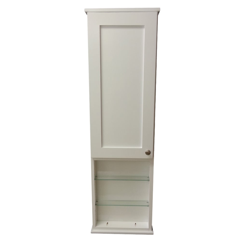 Overstock.com 42-inch Alexander Series On the Wall Cabinet with 18-inch Open Shelf 7.25-inch Deep Inside at Sears.com