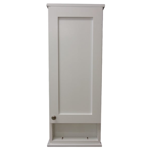 on the wall cabinet with 6 inch open shelf deep inside