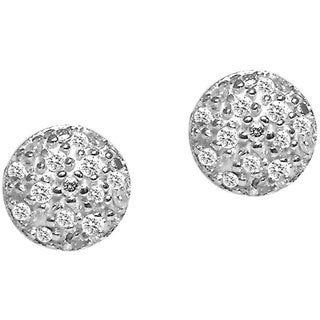 Sterling Silver Round Diamond Accent Stud Earrings