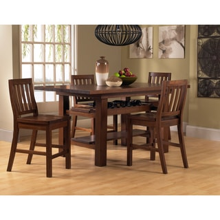 Outback Distressed Chestnut 5-piece Counter Height Dining Set