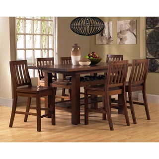 Outback Distressed Chestnut 7-pece Counter Height Dining Set