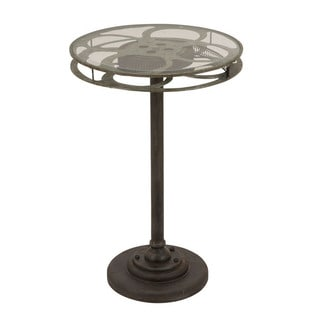 Holllywood Vintage Film Reel 28-inch Round-top Table