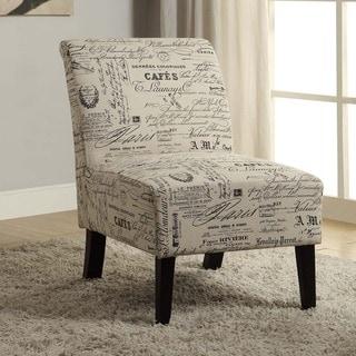 Linen Script Lily Chair