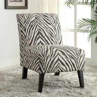 Linen Zebra Lily Chair