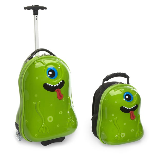 Travel Buddies Archie Alien 2-piece Hardside Kids' Carry-on Travel Luggage Set