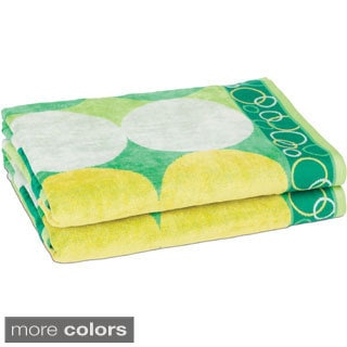 Cool Dots Jacquard Beach Towels (Set of 2)