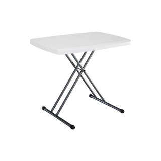 Duralight 26-inch HDPE White Granite Personal Folding Table