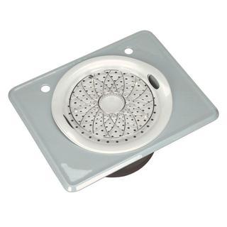 Kohler Tandem Self-Rimming Cast Iron Frost 2-hole Utility Sink