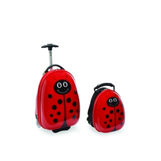 Travel Buddies Lola Lady Bug Kids' 2-piece Hardside Carry On Luggage Set