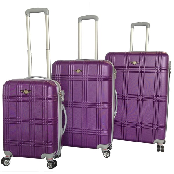 RivoLite Capri Purple 3-piece Lightweight Hardside Spinner Luggage Set