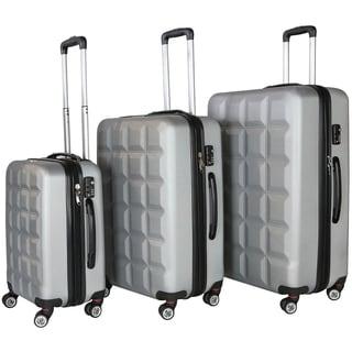 RivoLite Venice Silver 3-piece Lightweight Hardside Spinner Luggage Set