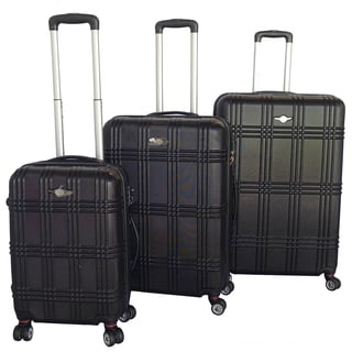 RivoLite Capri Black 3-piece Lightweight Hardside Spinner Luggage Set