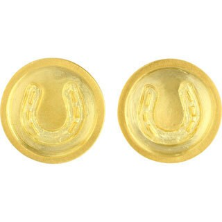 Sunstone Catherine Canino 18k Goldplated Horseshoe Button Stud Earrings