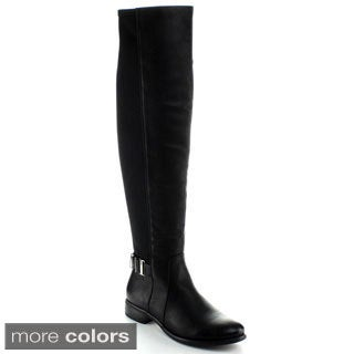 Nature Breeze Women's 'Shelbi-02H' Over-the-knee Faux Leather Riding Boots