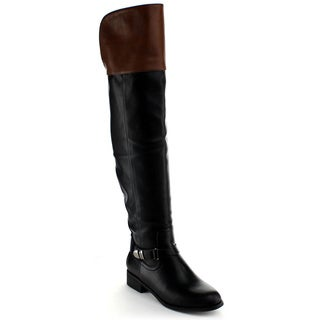 Nature Breeze Women's 'Ralph-01H' Two-tone Over-the-knee Riding Boots