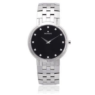 Movado Men's 0606237 Stainless Steel 7/8ct TDW Watch (G-H, l1-l2)
