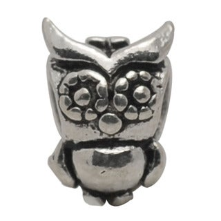 De Buman Sterling Silver Owl Charm Bead