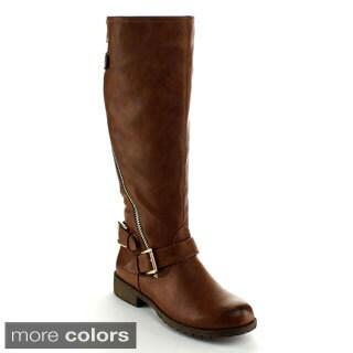 Nature Breeze Women's 'Angelica-01' Knee-high Riding Boots